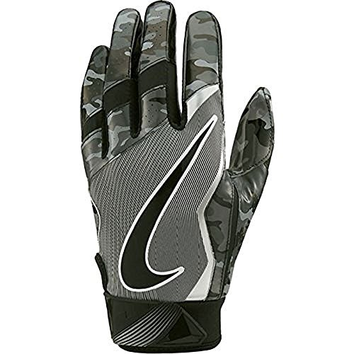 Nike Men's Vapor Jet 4.0 Receiver Gloves (Digital Camo Black (010) / Grey/Metallic Silver, (010 Jet)