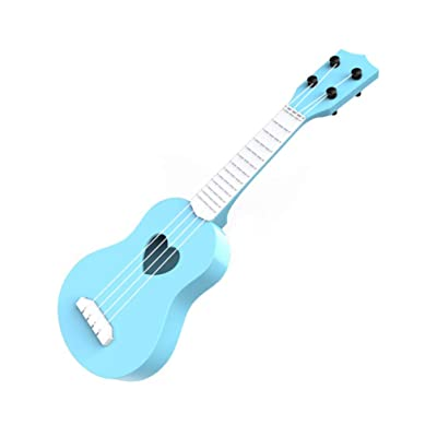 NUOBESTY Kids Ukulele Small Guitar 4 Strings Musical Instrument Educational Learning Toys with Music Score Party Gift for Kids Children Students Beginners (Light Blue): Home & Kitchen