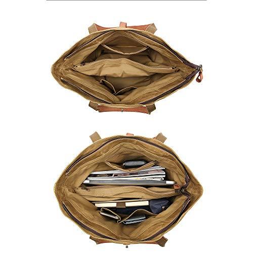 Para De Wy Bolso Casual ayng trabajo Adecuado darkbrown Hombro Vintage Lightbrown Mochila Mujer Compras Portatil qS1Tq
