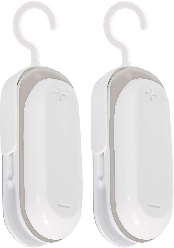 Mempedont Mini Bag Sealer – Heat Sealer for Plastic Bags – Vacuum Food Sealer and Cutter – Portable and Practical – Quick and Easy Seal for Snack Bags – Handheld Bag Sealer – Set of 2