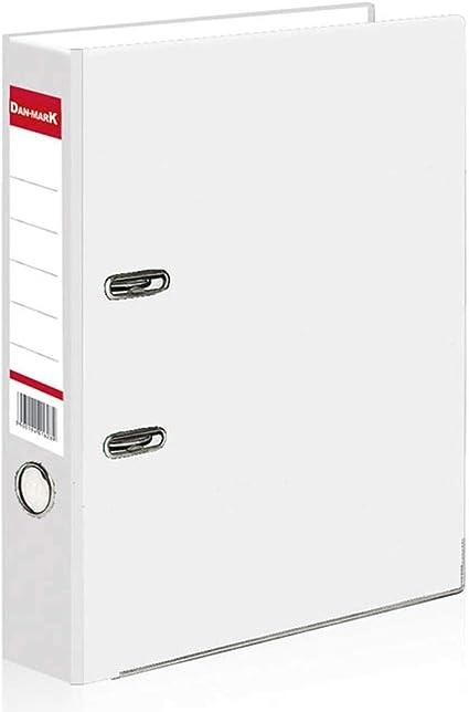 BMF DIRECT - Archivador de anillas (tamaño A4, 75 mm), color blanco 1: Amazon.es: Oficina y papelería