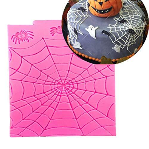 Potelin Premium Quality Halloween Theme Spider Web Silicone Mold DIY Fondant Chocolate Candy Cake Mould Cake Decor Sugarcraft Mold Baking -