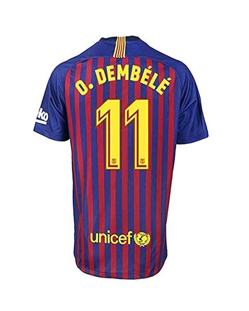 premium selection 5127b f0ab5 Amazon.com: Ousmane Dembele #11 Barcelona 18-19 Home Mens ...