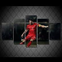 Cristiano Ronaldo soccer print poster canvas decoration 5 pieces