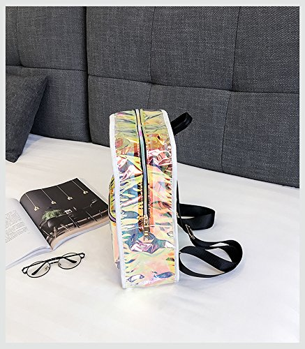 Backpack Holographic Satchel Women Clear Daypack Purses Transparent PVC Transparent for FwRrqBw5Cx