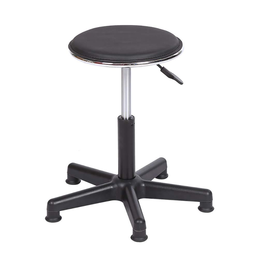 Black B Swivel Chair, Office Stool, Height Adjustable 360° redatable bar Chair, Round, Work Chair, Ergonomic Stool WYTIAO