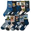 Kids Boy's Fashion Cartoon Dinosaurs Pattern Sport Socks 10 Pairs