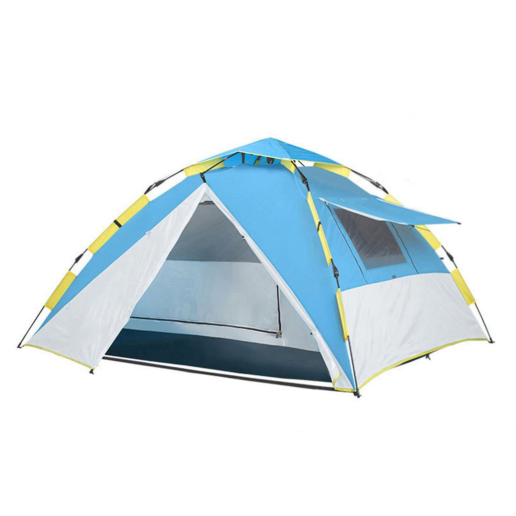 TENT-L ZP Zelt, automatische Familie Regendicht Outdoor Camping Zelt huwaizhangpeng (Farbe : Blau)