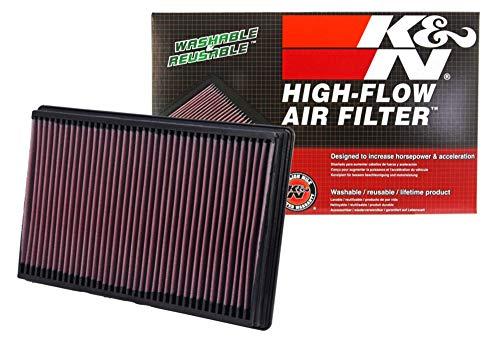 K&N engine air filter, washable and reusable:  2002-2019 Dodge Ram Truck V6/V8/V10 (1500, 2500, 3500, 4500, 5500) 33-2247
