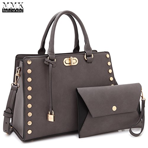 MMK collection Fashion Top handle Handbag(6669)~ Fashion Designer Satchel &Structured Purse~ClassicTote handbag~Briefcase bag with FREE Matching Coin Purse Set~Fashion Shoes bag - Handbag Bag Kelly