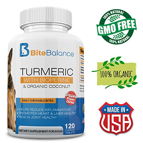 Turmeric Curcumin for Dogs – with 95% Curcuminoids – Joint Support + Dogs Arthritis Supplement – Digestive + Immune Support for Dogs – Organic Turmeric, Coconut Oil & BioPerine – 120 Treats Review