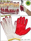 80 pairs Wholesale Korean Premium Red Latex Palm coated cotton Grip glove
