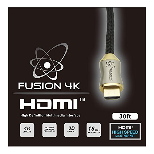 Cl3 Rated Component Video Cable - Fusion4K High Speed 4K HDMI Cable (4K @ 60Hz) - Professional Series (30 Feet) CL3 Rated