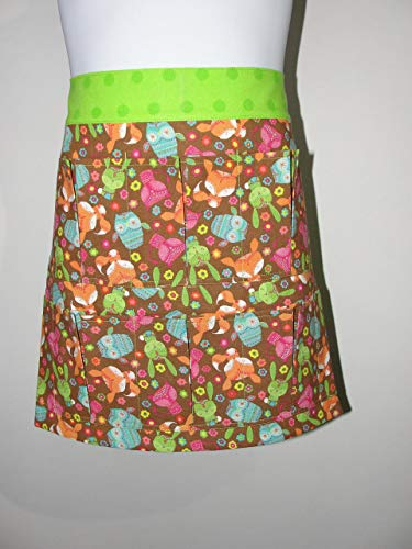 Child Youth Brown Animals Egg Gathering or Collecting Apron. Made in the USA!