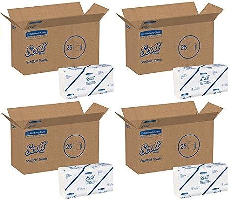 Kimberly-Clark 01980 Scottfold toallas de mano, 175-ct., 25-PK.: Amazon.es: Hogar