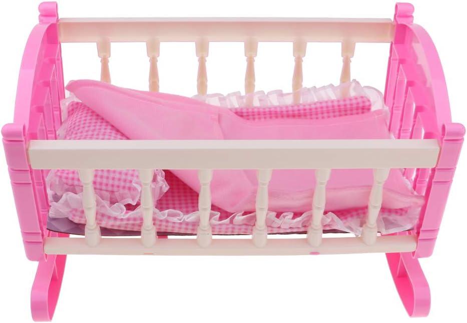 SM SunniMix Silla Plegable De Beb/é ABS Y Juguete De Cuna para Mu/ñeca Reborn MellChan Baby Doll