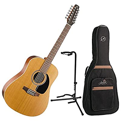 Seagull Coastline S12 Cedar 12-String Acoustic w/Seagull Gig Bag and Guitar Stand