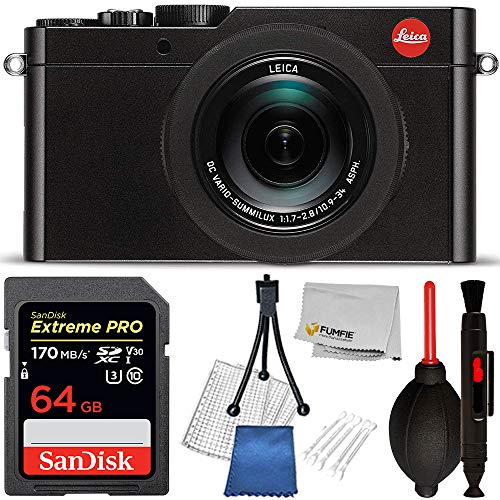 (Leica D-LUX (Typ 109) Digital Camera (Black) Basic Bundle- Includes 64GB Extreme SanDisk Memory Card)