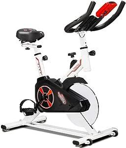 LSYOA Fitness Bicicleta Estática, Bicicleta Spinning Vertical ...