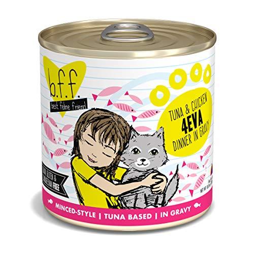 Weruva Best Feline Friend (B.F.F.) Tuna & Chicken 4-Eva With Tuna & Chicken In Gravy Cat Food, 10Oz Can (Pack Of 12)