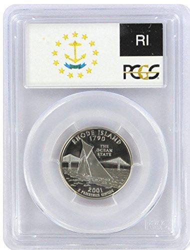2001 Silver Rhode Island State Quarter PR-69 PCGS