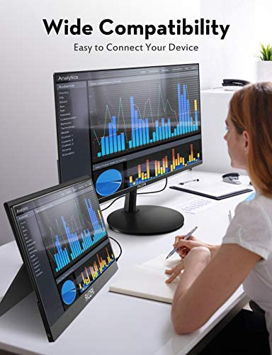 Computer Monitor - AUZAI 24 inch 1080p FHD LED Computer Monitor for Business - 75Hz with HDMI and VGA Port, Tilt Adjustment, 178° Wide View Angle, 3-Sided Micro Edge Design