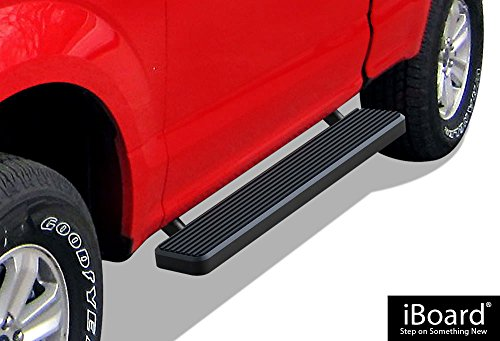 APS iBoard Running Boards (Nerf Bars | Side Steps | Step Bars) for 2015-2019 Ford F150 Regular Cab Pickup 2-Door / 2017-2019 Ford F-250/F-350 Super Duty | (Black Powder Coated 5 inches)