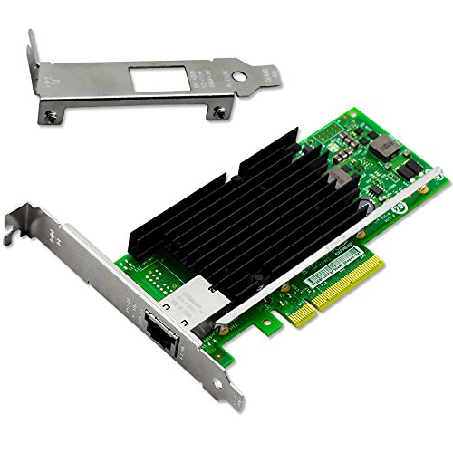 Macroreer for Intel 10GbE Ethernet Converged Network Adapter X540-T1 NIC, Single Copper RJ45 Port, PCI Express 2.1 X8