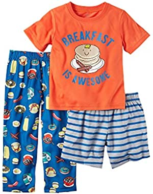 Carter's Boys' 12M-5T 3-Piece Breakfast Is Awesome Set