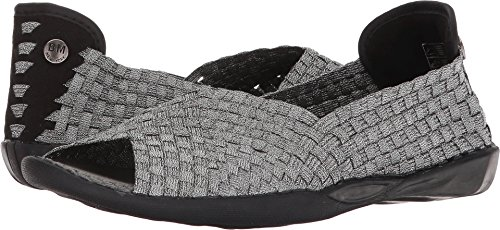 Bernie Mev Women's Dream Slip-On Flats Shoes Open Toe Pewter discount popular cheap sale clearance cheap discounts clearance discounts 3qARc