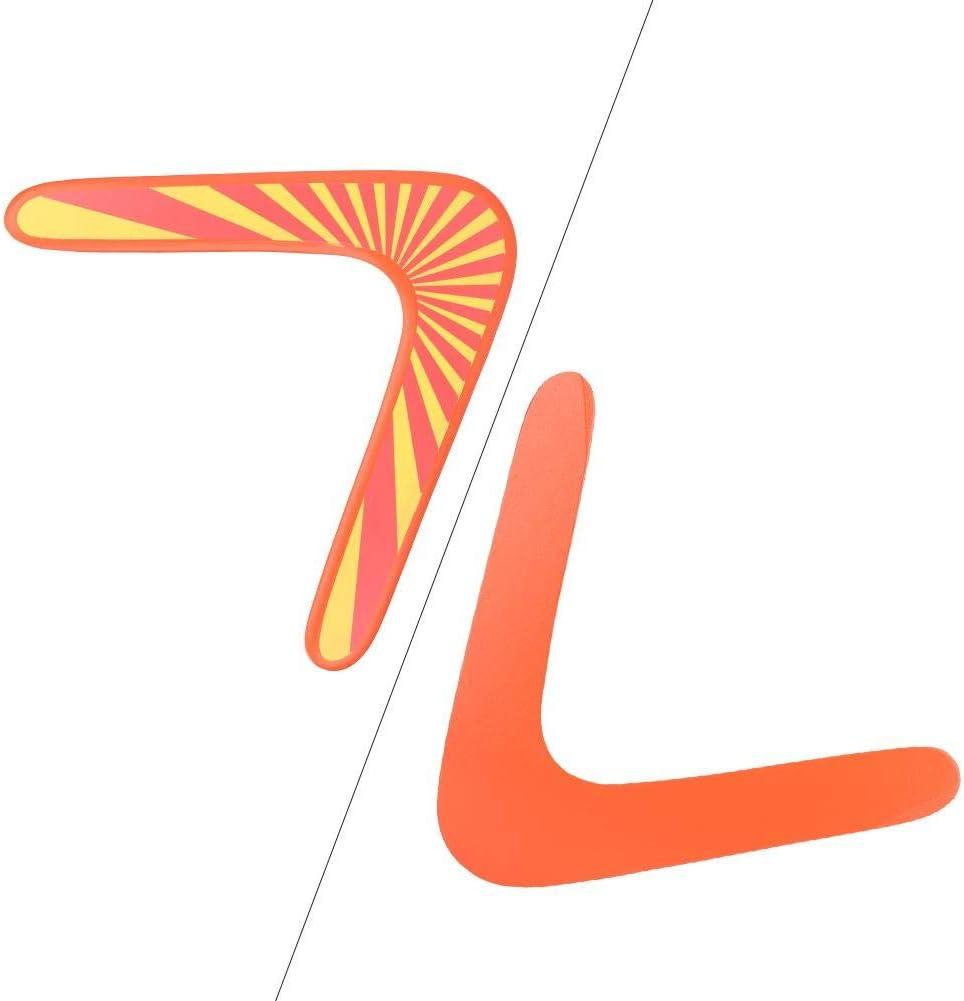 V-f/örmiger Bumerang Sugoyi Klassischer orangefarbener Holz-Bumerang aus Holz f/ür Kinder