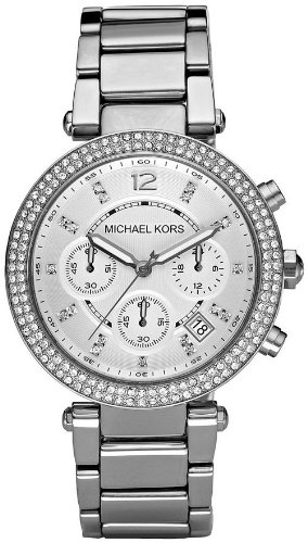 Michael Kors Womens MK5353 Parker Silver Watch