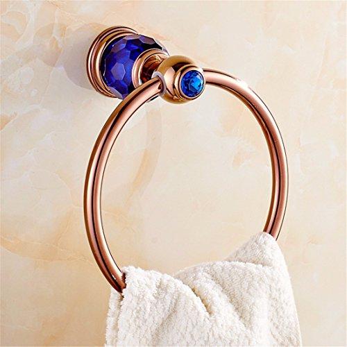 LAONA All European Rose Rose, Golden Blue crystal base, bathroom fittings, toilet brush rack, toilet paper rack,Towel ring