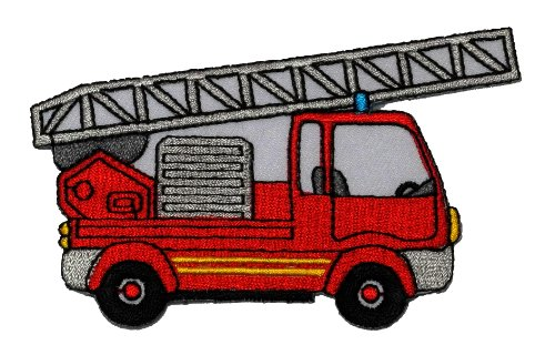 (Fire Engine Truck DIY Applique Embroidered Sew Iron on Patch FE-003)