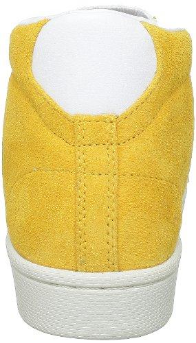 Converse Pro Lea Sue Mid - Zapatillas de ante unisex amarillo - Gelb (Jaune/blanc)