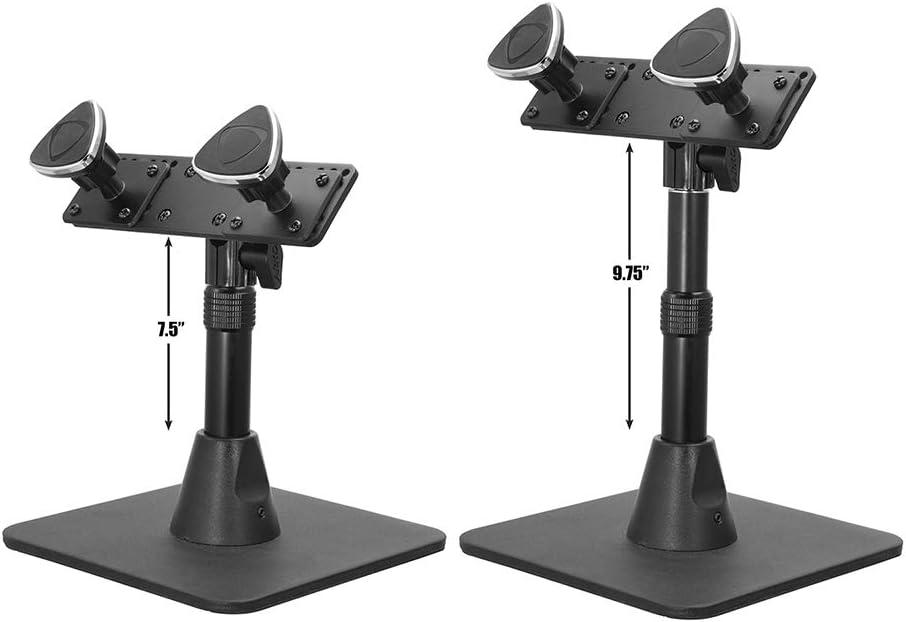 Arkon Dual Phone Magnetic Mount Desk Stand Black
