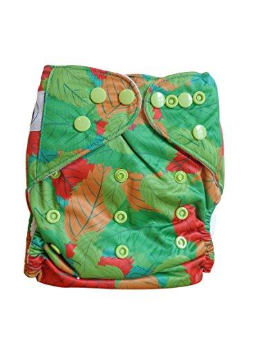Three Little Imps Estampado Pañale de tela (incluyendo 2 insertos) - hojas verdes: Amazon.es: Bebé