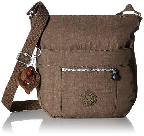 - Kipling Bailey Solid Crossbody Saddle Bag, soft earthy beige