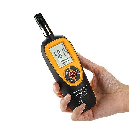Termómetro De Medición De Temperatura / Humedad De Alta Precisión Digital Higrómetro Detector De Fugas De Mano ...
