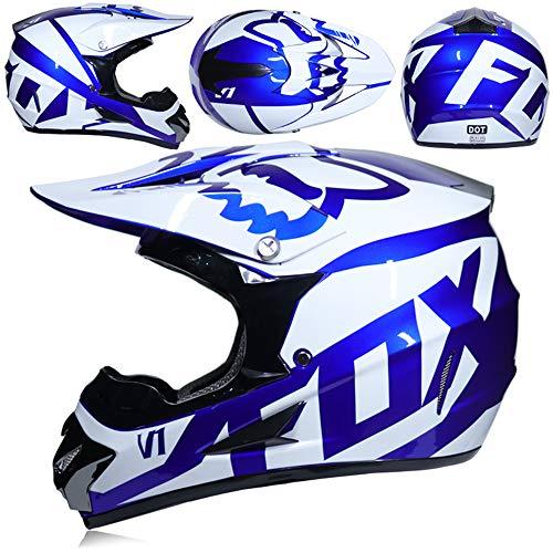 yaning Adult Offroad Helmet Goggles Gloves Gear Combo Purple Splatter (Camera Helmet Motocross)