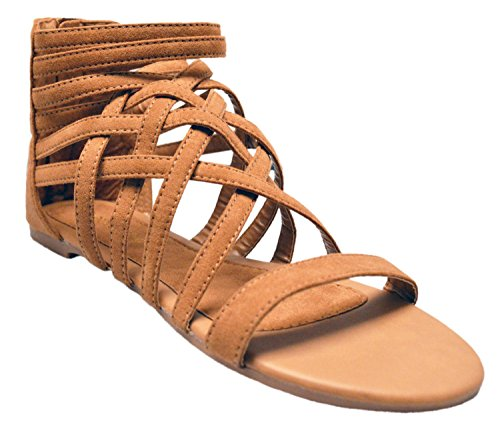 Patent Cut Out Flat Sandal - 2