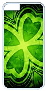 """Abstract Leaf Four Leaf Clover Case for iPhone 6(4.7"""") PC Material White"""