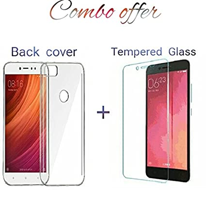 detailed look 05012 8f460 REDMI Y1 TRANSPARENT BACK COVER + TEMPERED GLASS (COMBO DEAL)