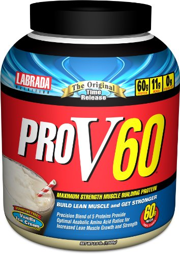 Labrada Nutrition Lean Body Pro V 60  Protein Powder, Vanilla Ice Cream, 3.5-Pound Jars
