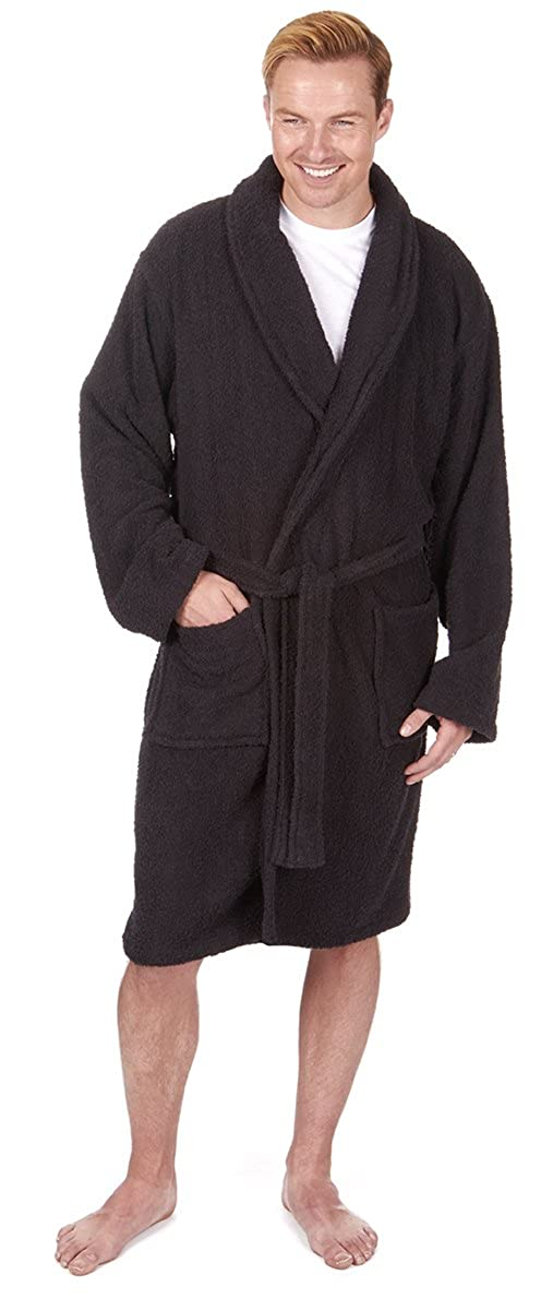 42117f8df5 Mens Luxury Cotton Towelling Bath Robe Dressing Gown Gym  Amazon.co.uk   Clothing