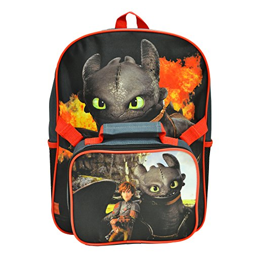 Price comparison product image How to Train Your Dragon Multicolored Kids Backpack Detachable Lunch Kit Set 15""