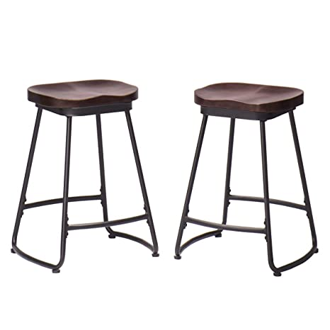Enjoyable Amazon Com Alunaune 26 Counter Height Bar Stools Set Of 2 Gmtry Best Dining Table And Chair Ideas Images Gmtryco