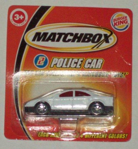 2004 MATCHBOX POLICE CAR - BURGER KING