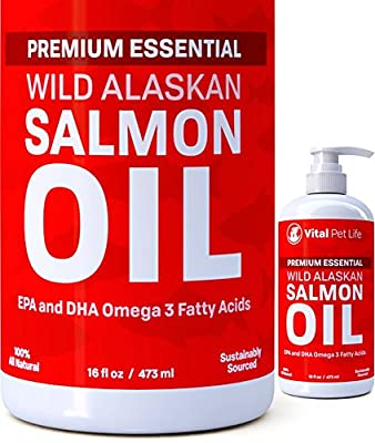 SALMON OIL FOR DOGS--Helps Joints, Inflammation, Dry Skin