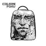 COLORSFORU(TM) Graffiti Men Pattern Print Laptop Bag Shoulder Daypack School Backpack Casual Hiking Travel Rucksack Handbag